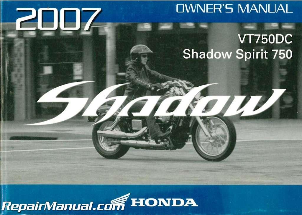 2007 honda vt750dc shadow spirit motorcycle owners manual rh repairmanual com 2007 honda shadow spirit 750 c2 owners manual 2007 honda shadow 600 owners manual