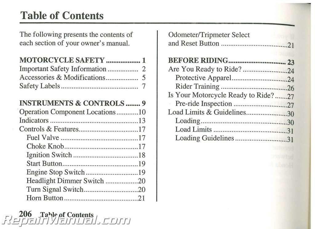 2007 honda vt750dc shadow spirit motorcycle owners manual rh repairmanual com Speer Reloading Manual Loading Artillery Manual