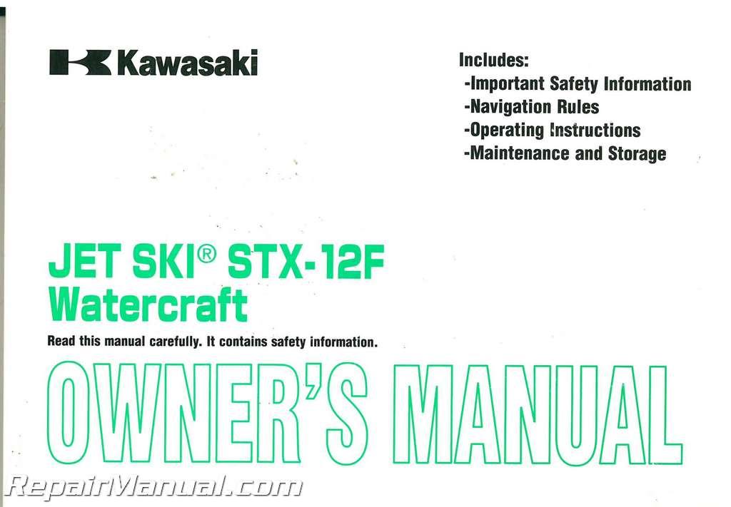 Kawasaki Stx  F Owners Manual