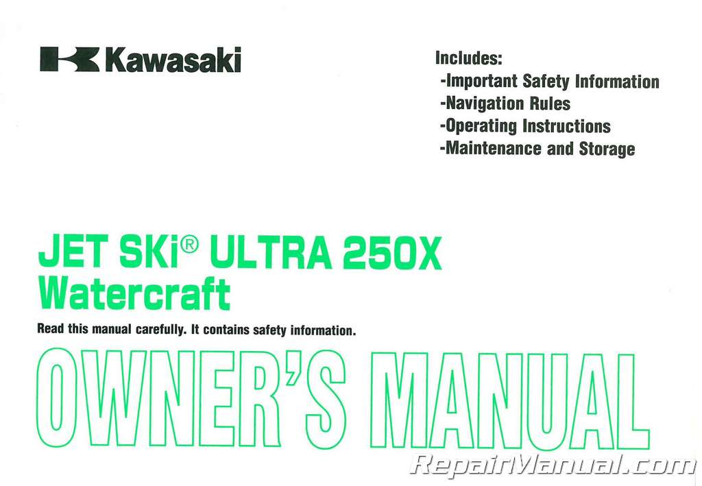 2007 kawasaki jt1500b jet ski ultra 250x factory owners manual rh repairmanual com 2013 Kawasaki Ultra 250X 2007 kawasaki jet ski ultra 250x owners manual