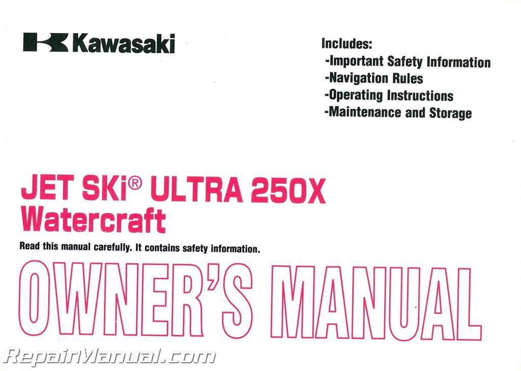 Kawasaki Ultra X Owners Manual