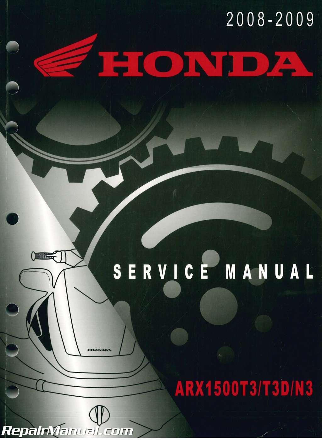 2008 2009 arx1500t3 t3d n3 aquatrax f 15x factory service manual rh repairmanual com 2018 Honda Aquatrax 2008 Honda Aquatrax
