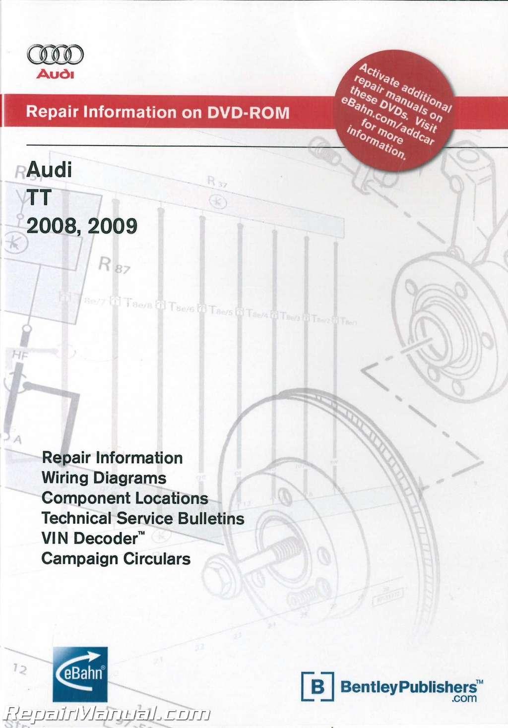 Audi Tt 2008 Service Manual 2002 Tahoe Wiring Diagram Dvd 2009 Repair Rom Rh Repairmanual Com New Haynes Shop