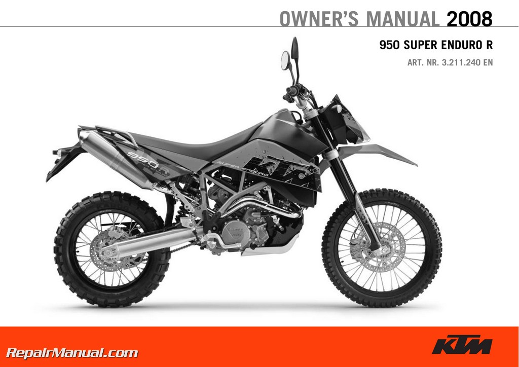 2008 2009 ktm 950 super enduro motorcycle owners manual Service Station Service Station