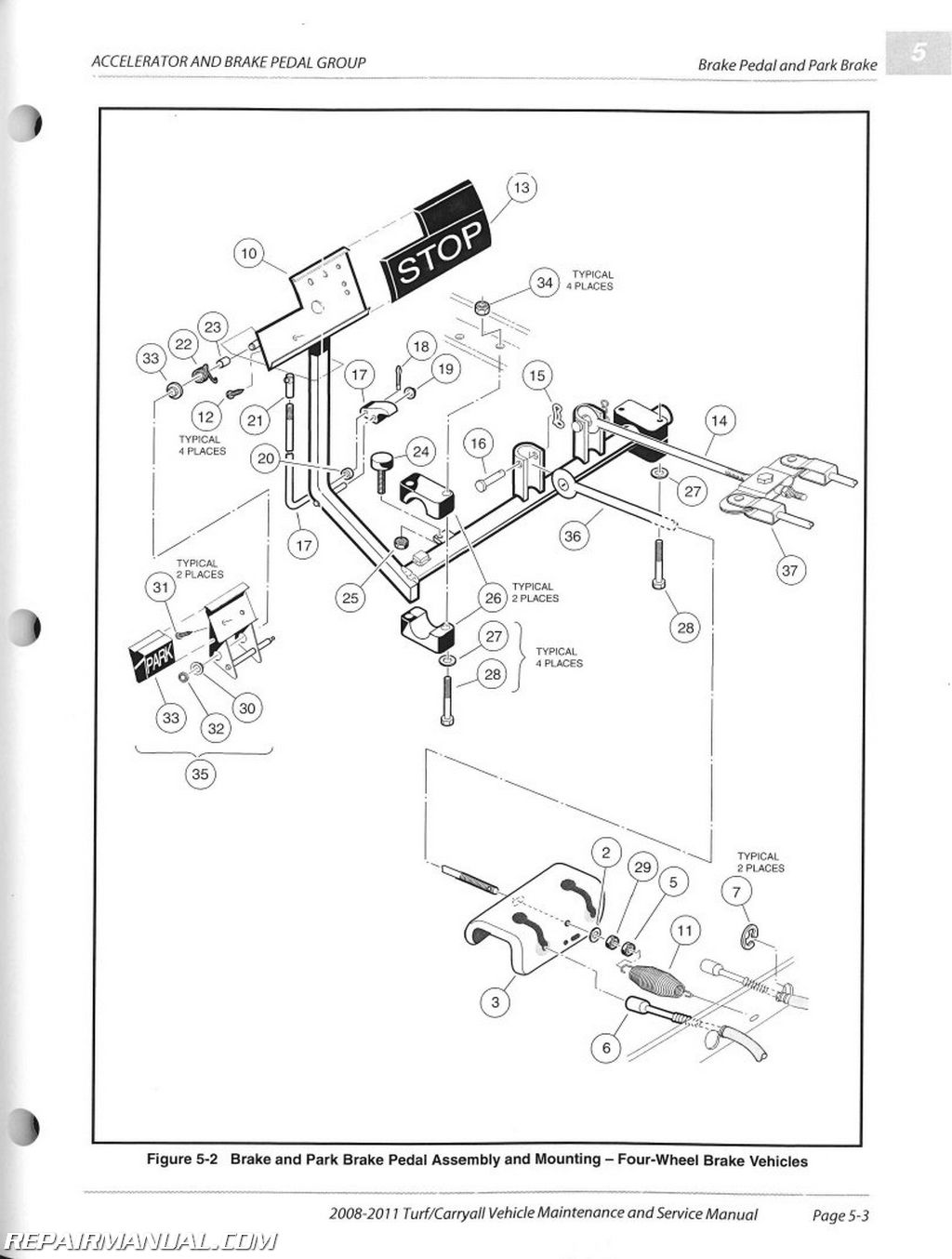 Club Car Turf 1 Wiring Diagram Books Of Carryall 2008 2011 2 6