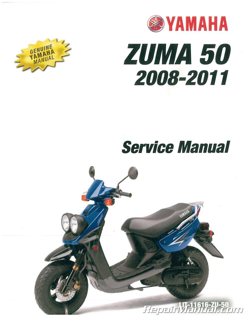 2008 2011 yamaha yw50 zuma scooter service manual rh repairmanual com yamaha bws user manual yamaha zuma 50 owners manual