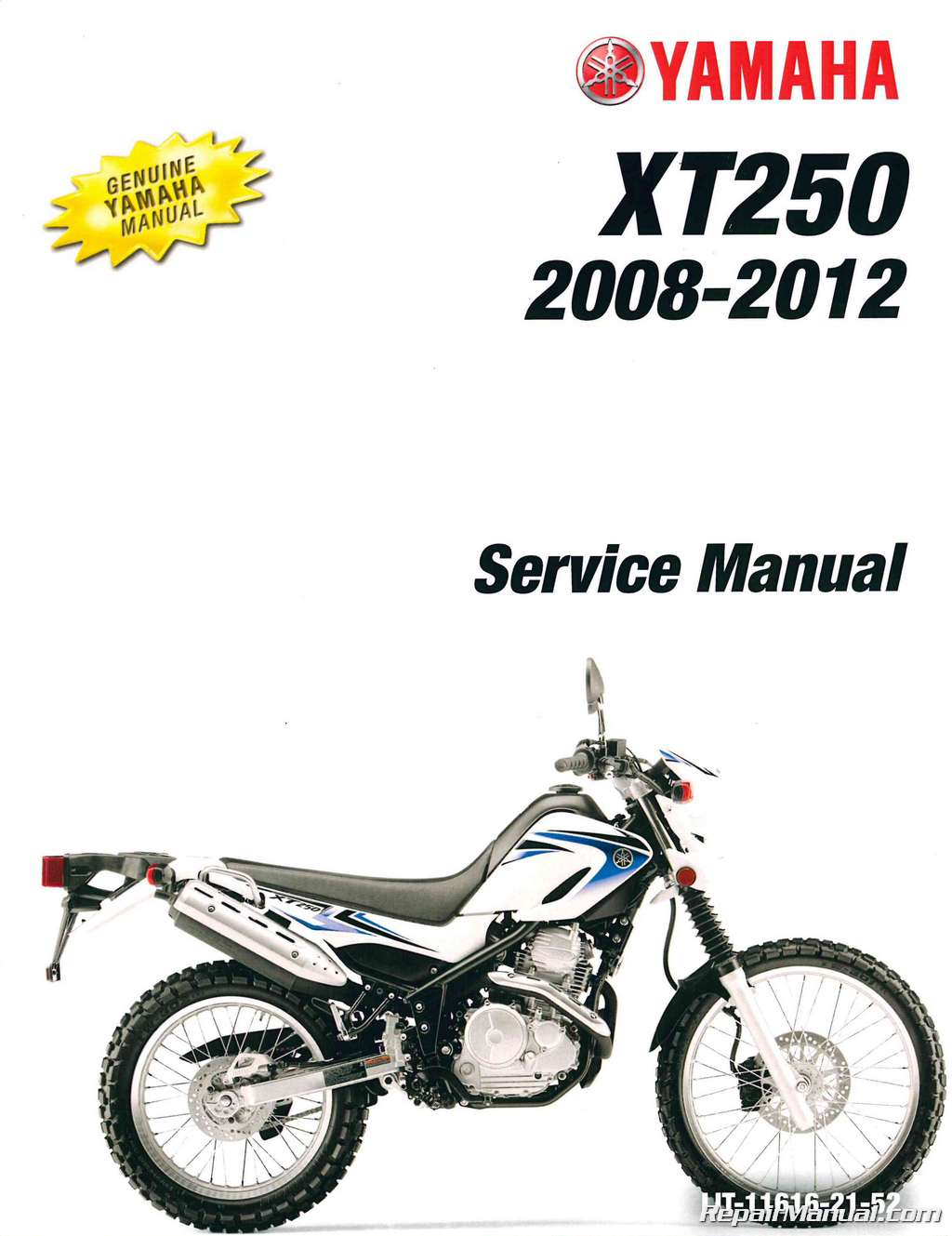 2008 2012 yamaha xt250 motorcycle service manual. Black Bedroom Furniture Sets. Home Design Ideas