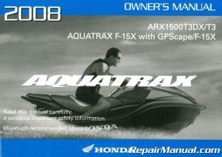 parts manual honda arx1200n3 2002 2005 aquatrax f 12 volume 1 rh repairmanual com Colors of Honda Aquatrax Honda Aquatrax R-12X