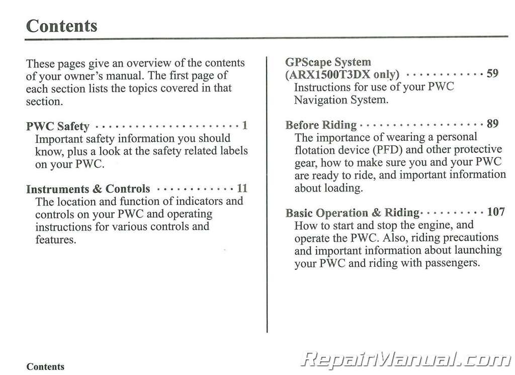 aquatrax f 15x owner manual
