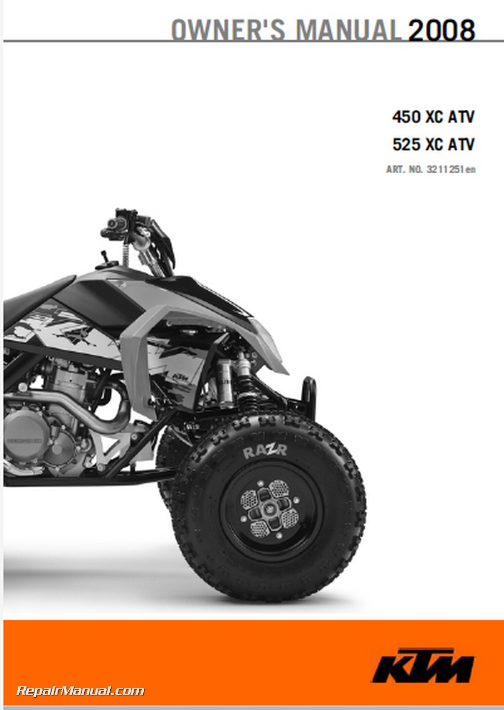 Ktm  Xc Atv Owners Manual