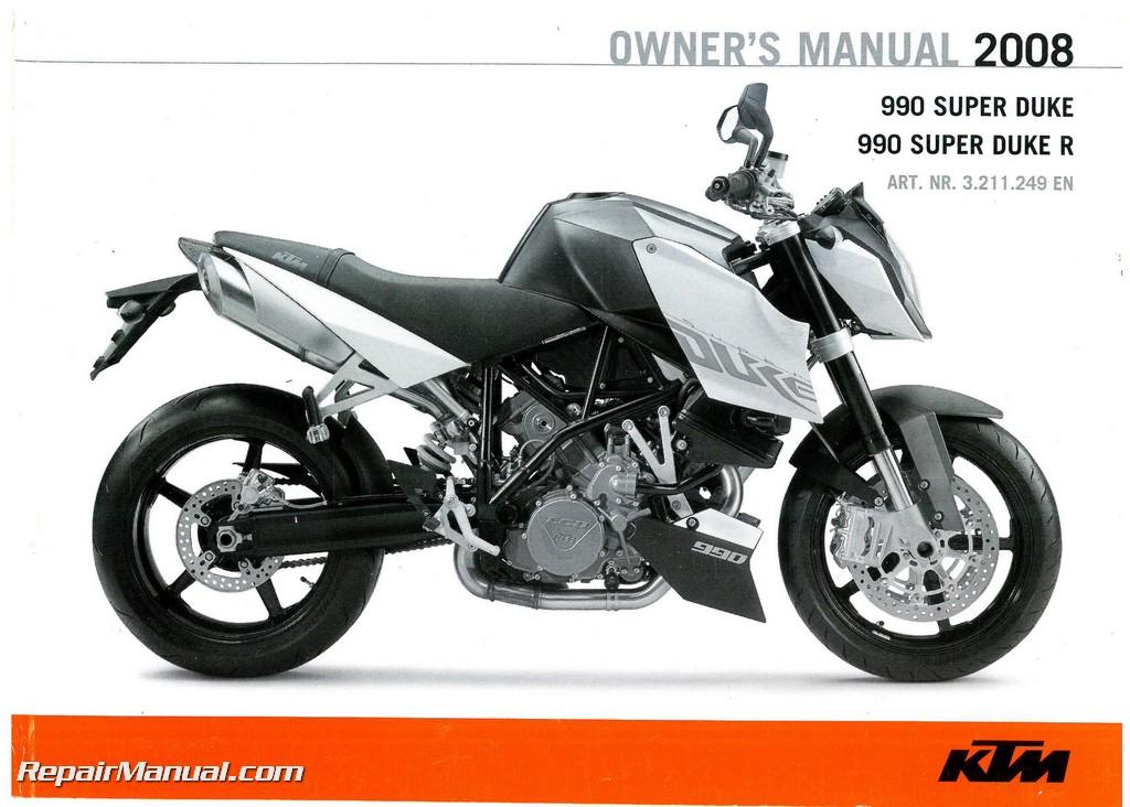 2008 ktm 990 superduke motorcycle owners manual paper rh repairmanual com manual ktm superduke 990 manual ktm superduke 990