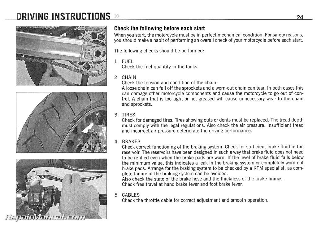2008 ktm 990 superduke motorcycle owners manual paper rh repairmanual com ktm 990 super duke workshop manual ktm 990 superduke service manual