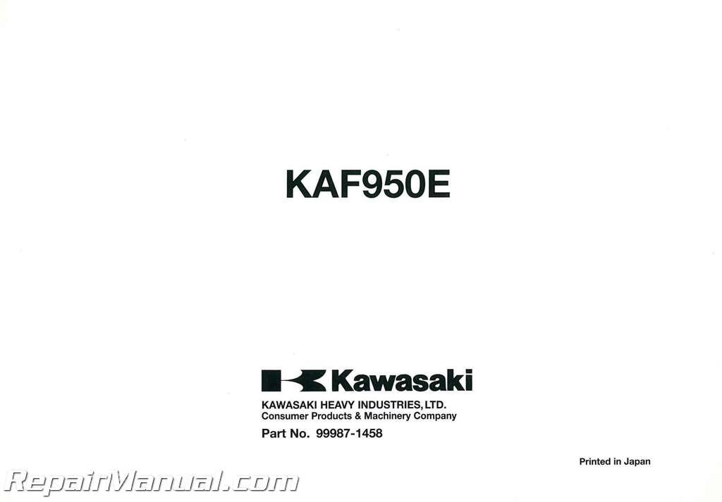 2008 kawasaki kaf950e mule 3010 trans 4x4 diesel owners manual