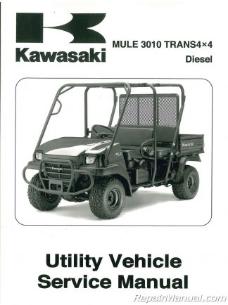 2008 Kawasaki KAF950E8F Mule 3010 Diesel Trans 4×4 Service Manual
