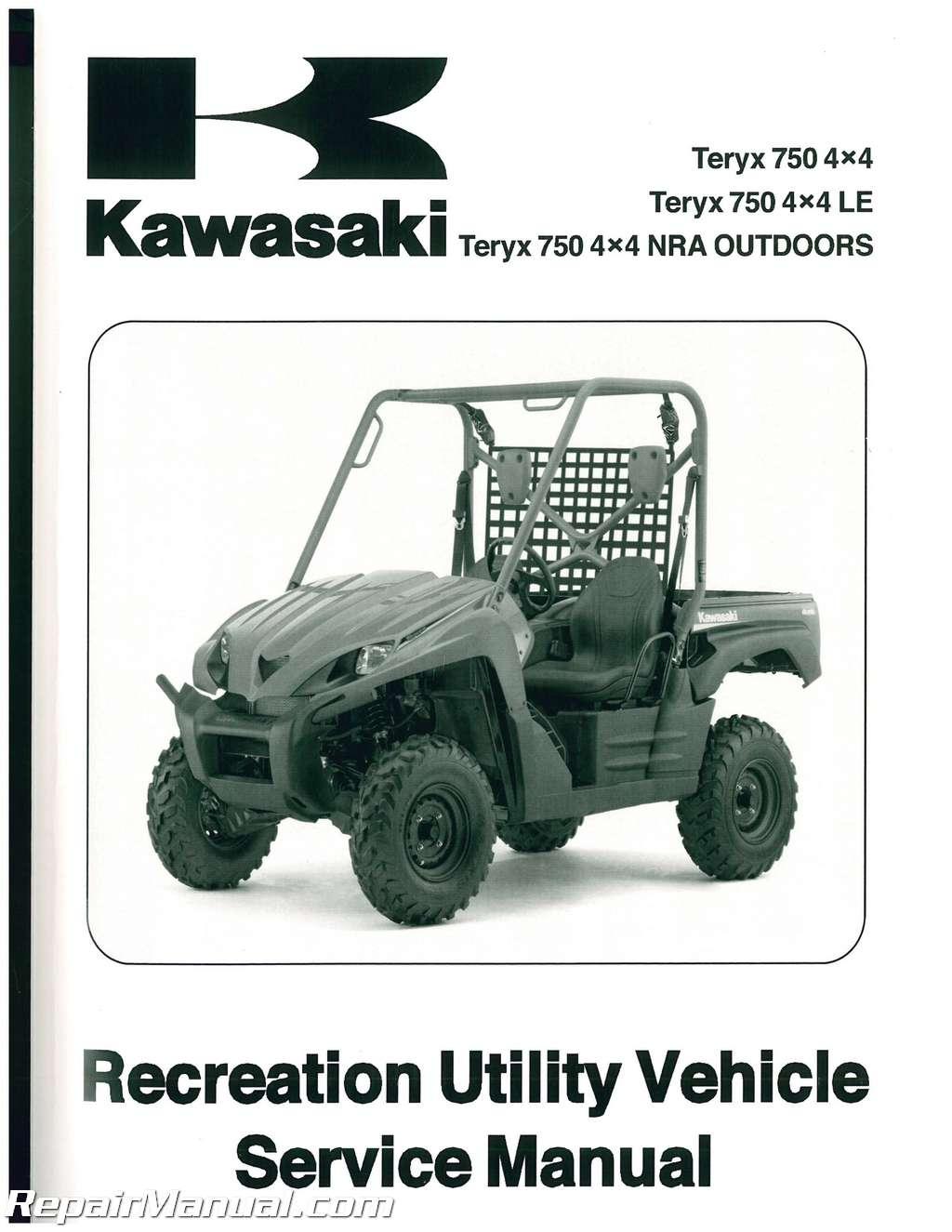2008 kawasaki krf750a b teryx utv service manual