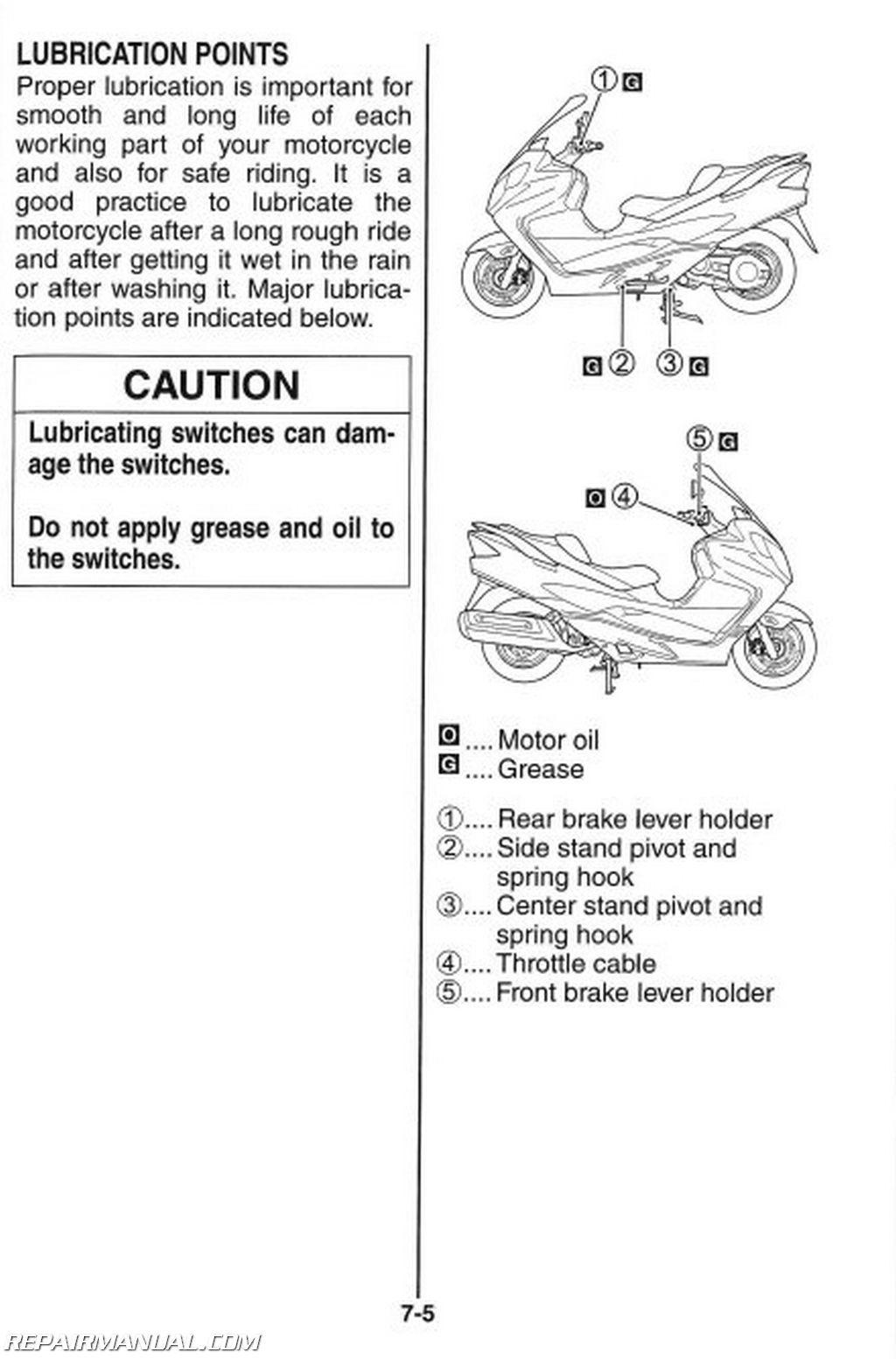 2008 suzuki an400k8 burgman scooter owners manual   99011