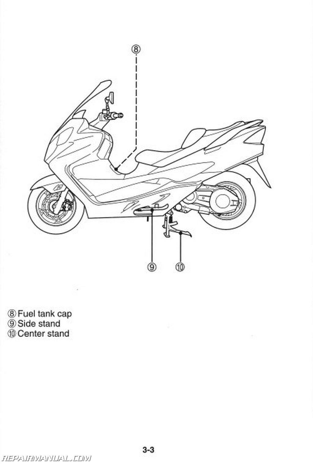 2008 suzuki an400k8 burgman scooter owners manual rh repairmanual com 2014  Suzuki Burgman 400 Review 2012 Suzuki Burgman 400