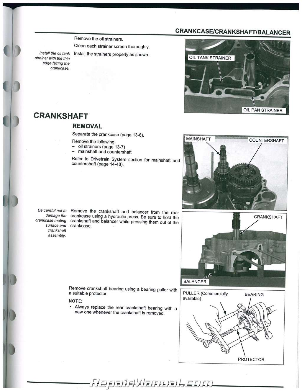2009 – 2013 Honda MUV700 Big Red Side by Side Service Manual