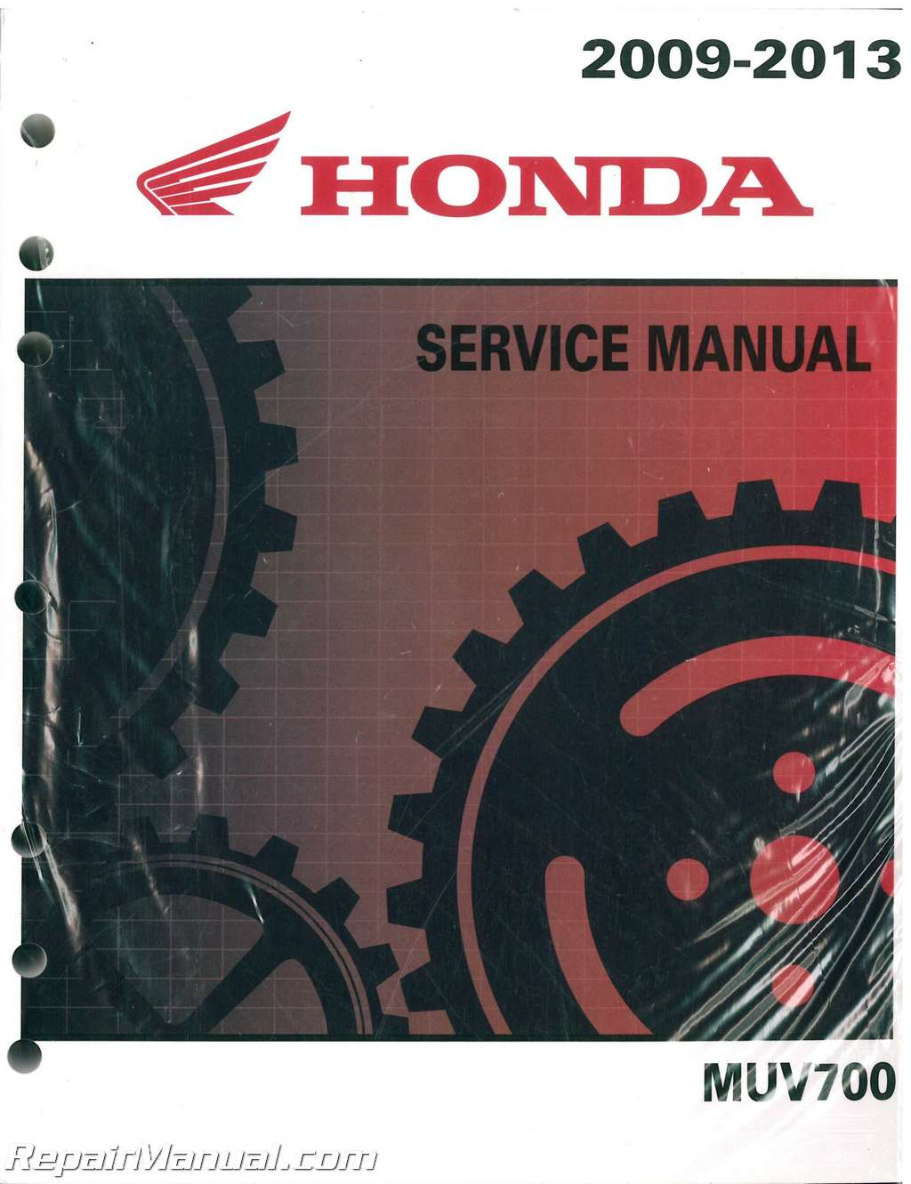 2009 2013 honda muv700 big red side by side service manual rh repairmanual com 1987 Honda Big Red 1986 Honda Big Red