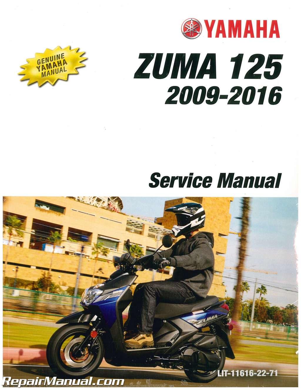 2009 2016 yamaha yw125 zuma 125 scooter service manual rh repairmanual com 2014 Yamaha YW125 yamaha tw 125 service manual