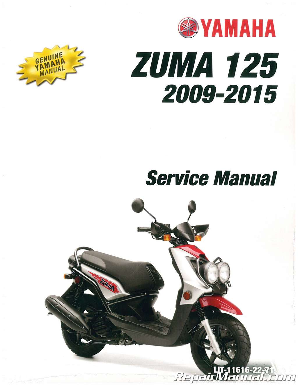 2009  U2013 2016 Yamaha Yw125 Zuma 125 Scooter Service Manual