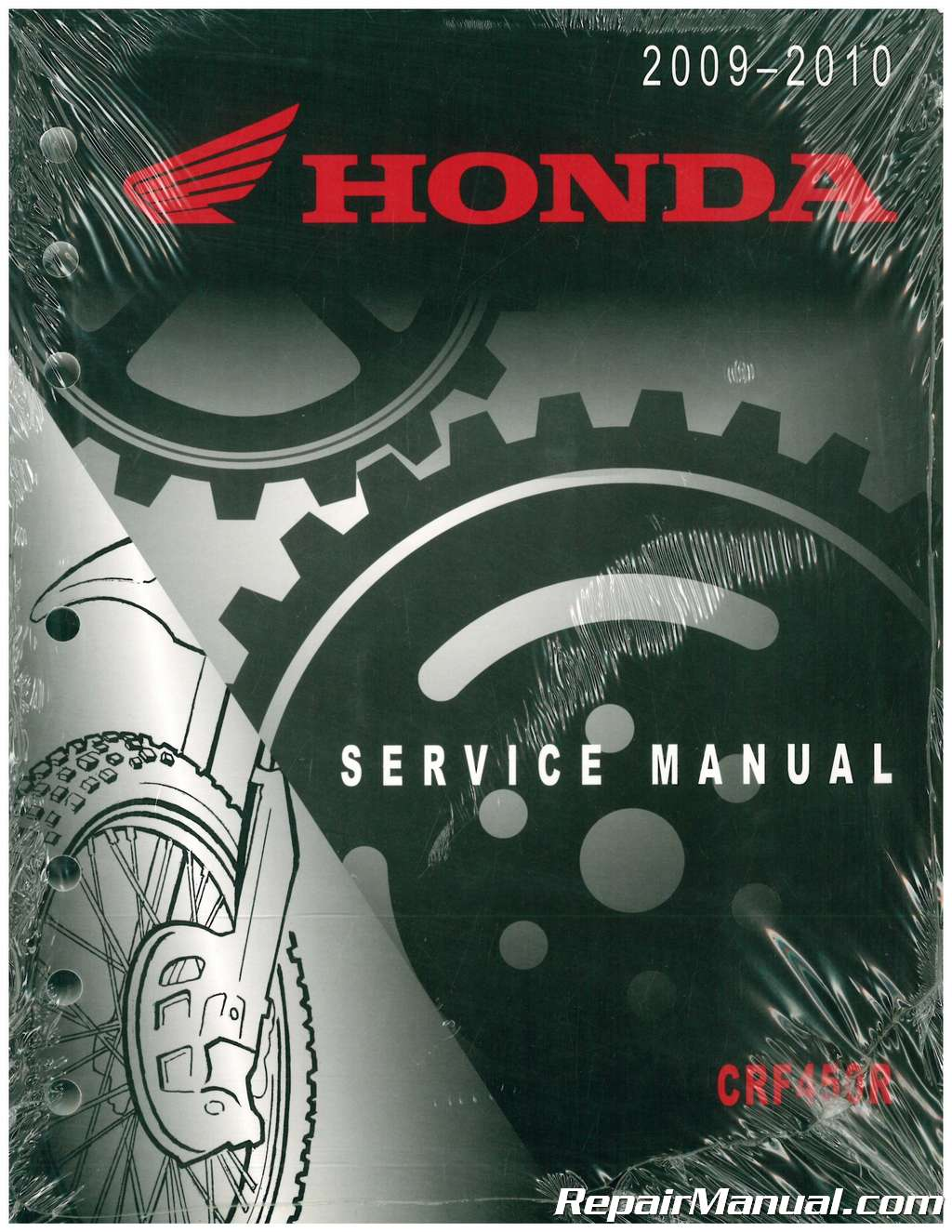 USED 2009 2010 Honda CRF450R Motorcycle Service Manual
