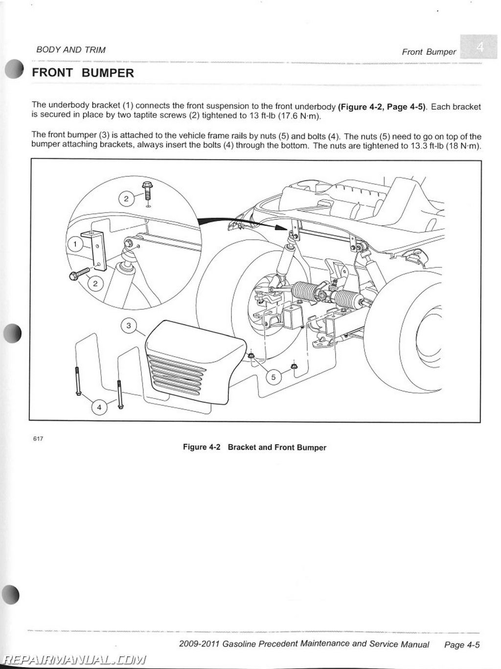 Club Car Gasoline Precedent Maintenance And Service Manual Page on club car front suspension parts diagram