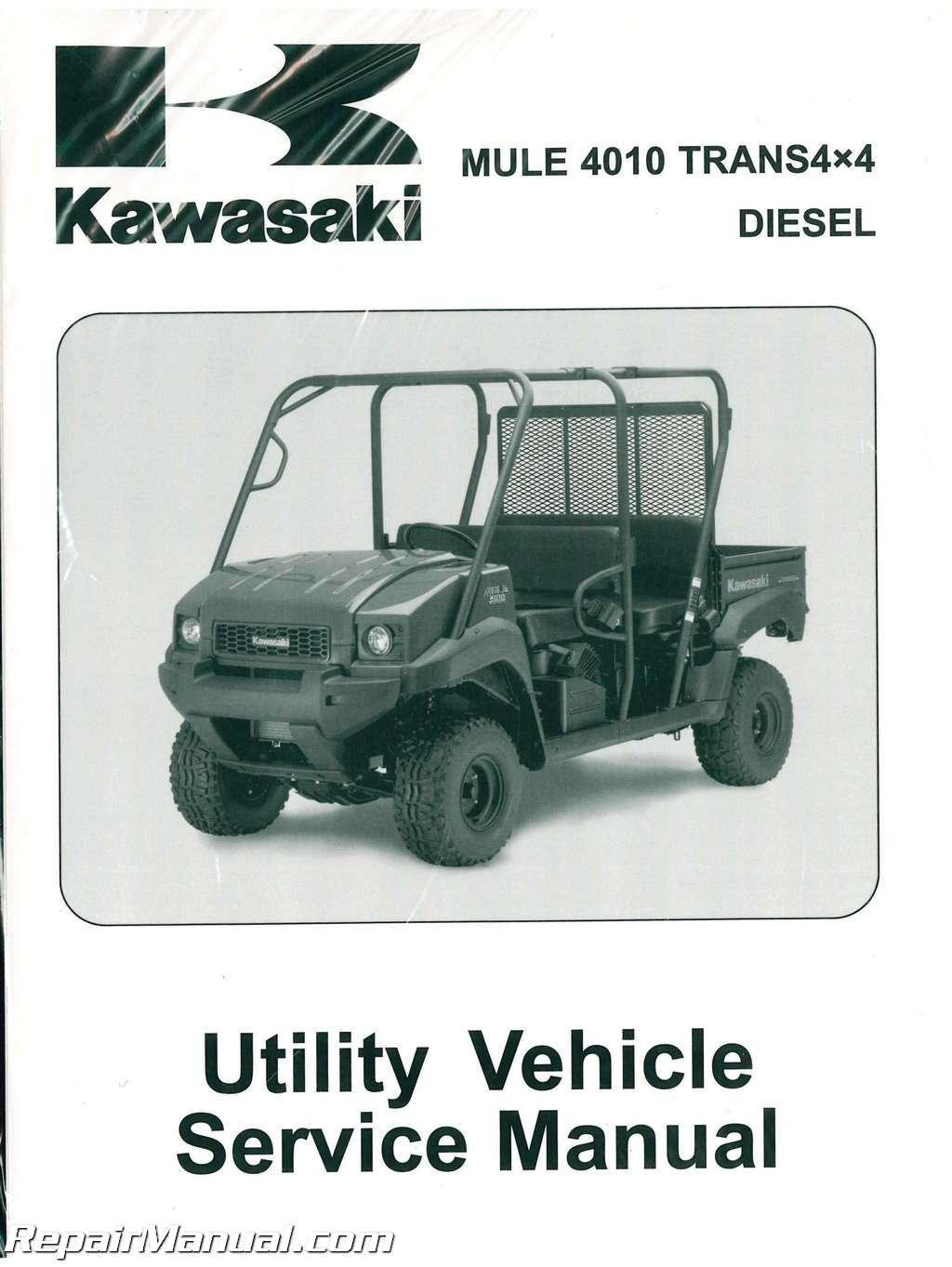 2009-2013 Kawasaki KAF950G H Mule 4010 Trans4x4 Diesel Side by Side Service  Manual