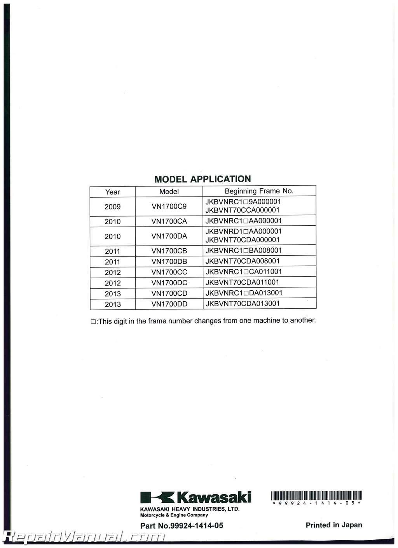 Kawasaki Vulcan Nomad Service Manual