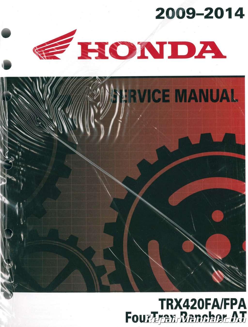 Honda F+R Brake Pads TRX 420 FA FPA Fourtrax Rancher AT 2009 2010 2011 2012 ATV