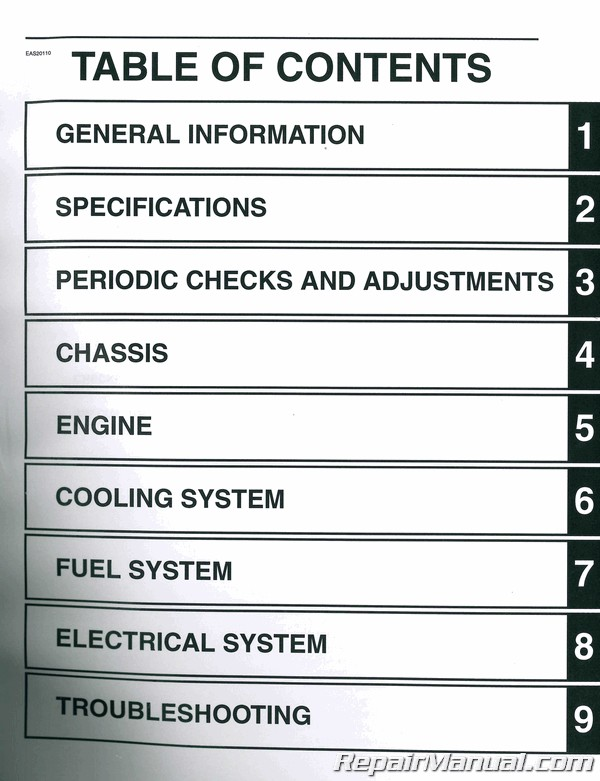 2009-2015 Yamaha YZF-R6 YZFR6 Motorcycle Service Manual