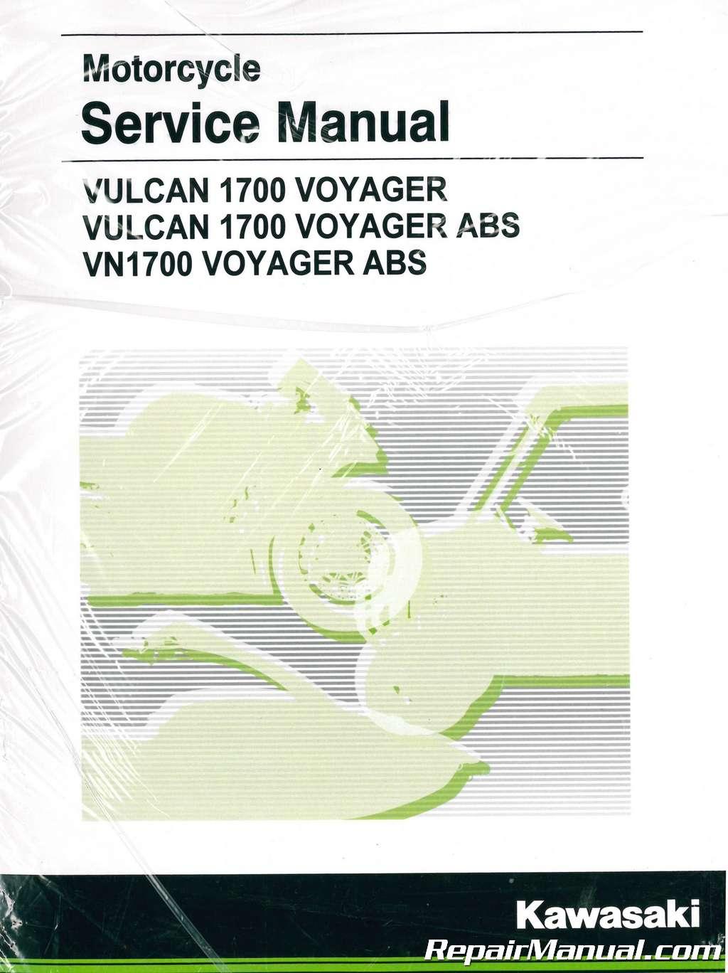 2009-2019 Kawasaki VN1700A B Vulcan Voyager ABS Motorcycle Service Manual