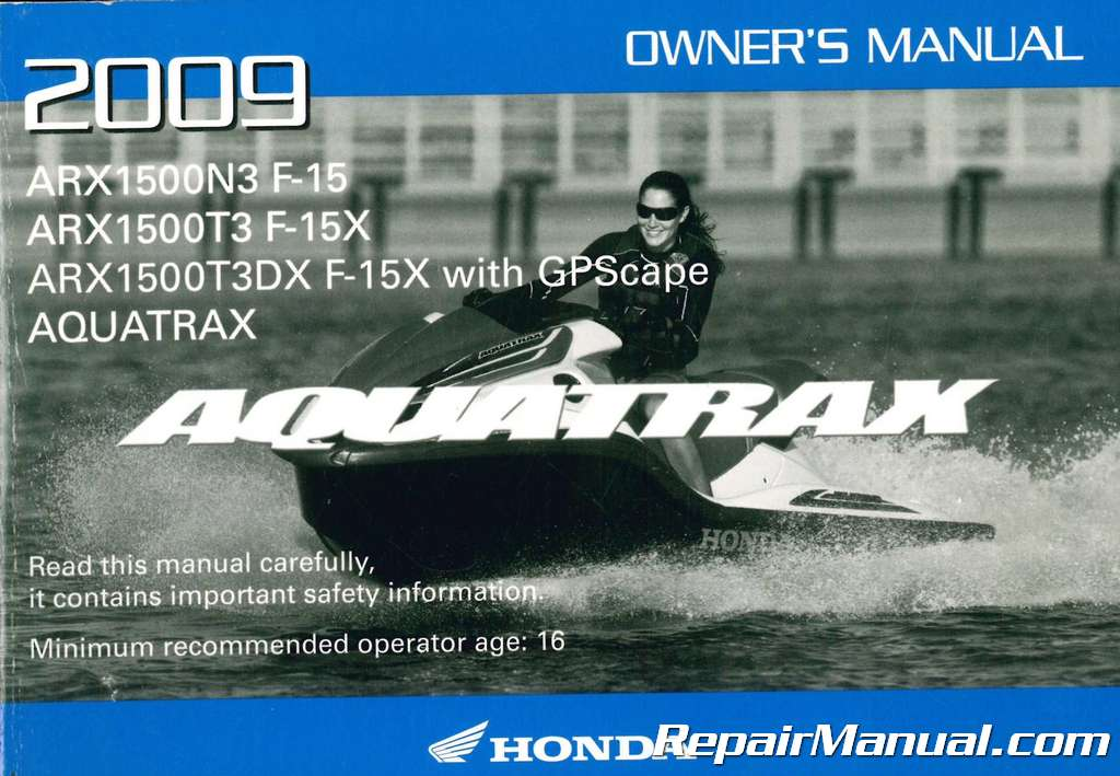 aquatrax f 15x service manual how to and user guide instructions u2022 rh taxibermuda co Honda Motorcycle Service Manual Honda Motorcycle Service Manual PDF