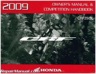 2005 Honda CRF250X Motorcycle Owners Manual  Competition Handbook 31KSC610