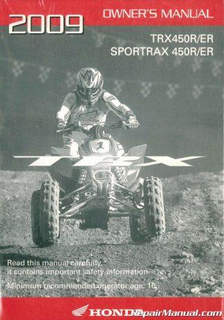 31HN8660 2009 Honda TRX680FA FGA FourTrax Rincon ATV Owners Manual
