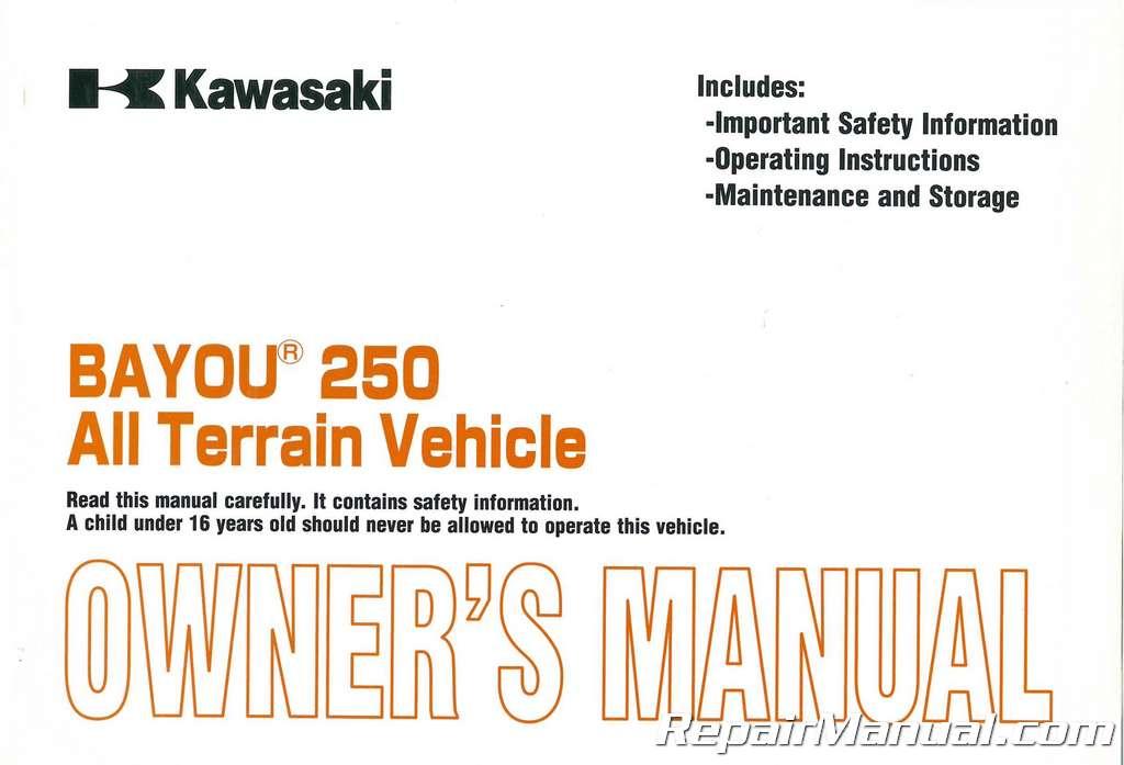 Kawasaki bayou Free Service Manual yamaha outboard Parts Near me