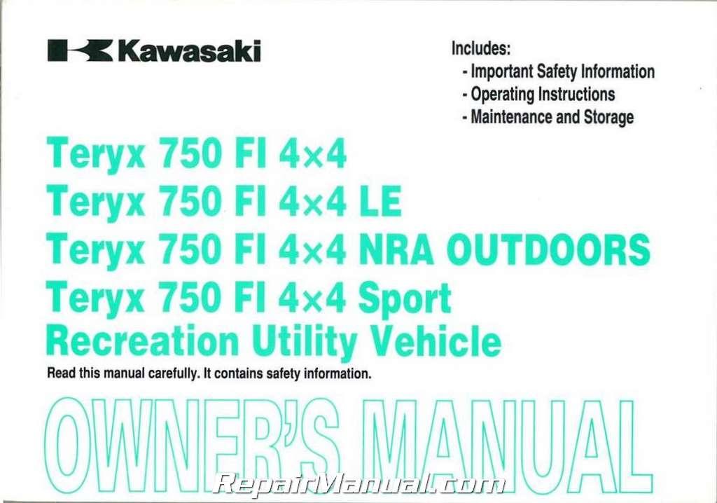 Kawasaki Teryx Owners Manual