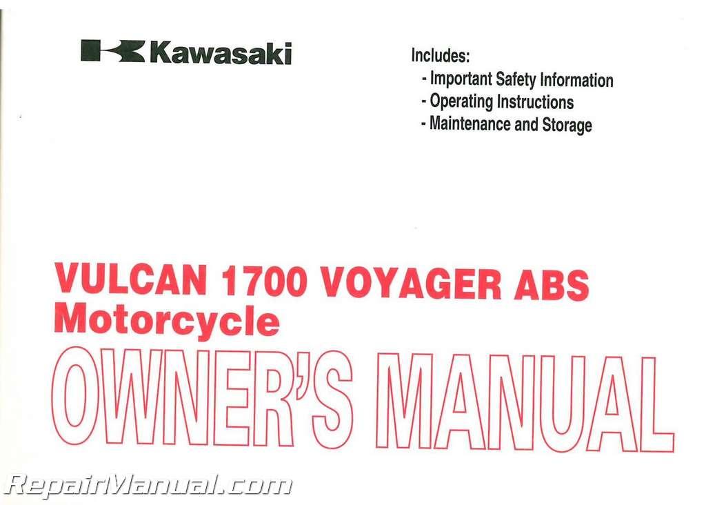 Kawasaki Voyager Owners Manual