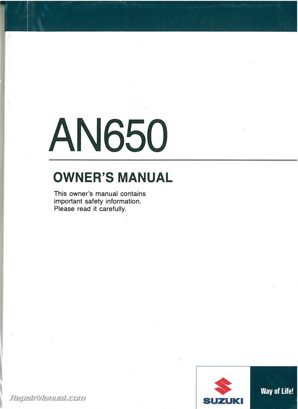 2009 suzuki an650k9 burgman 650 scooter owners manual rh repairmanual com suzuki owners manual pdf 1999 dt115 suzuki owners manual pdf