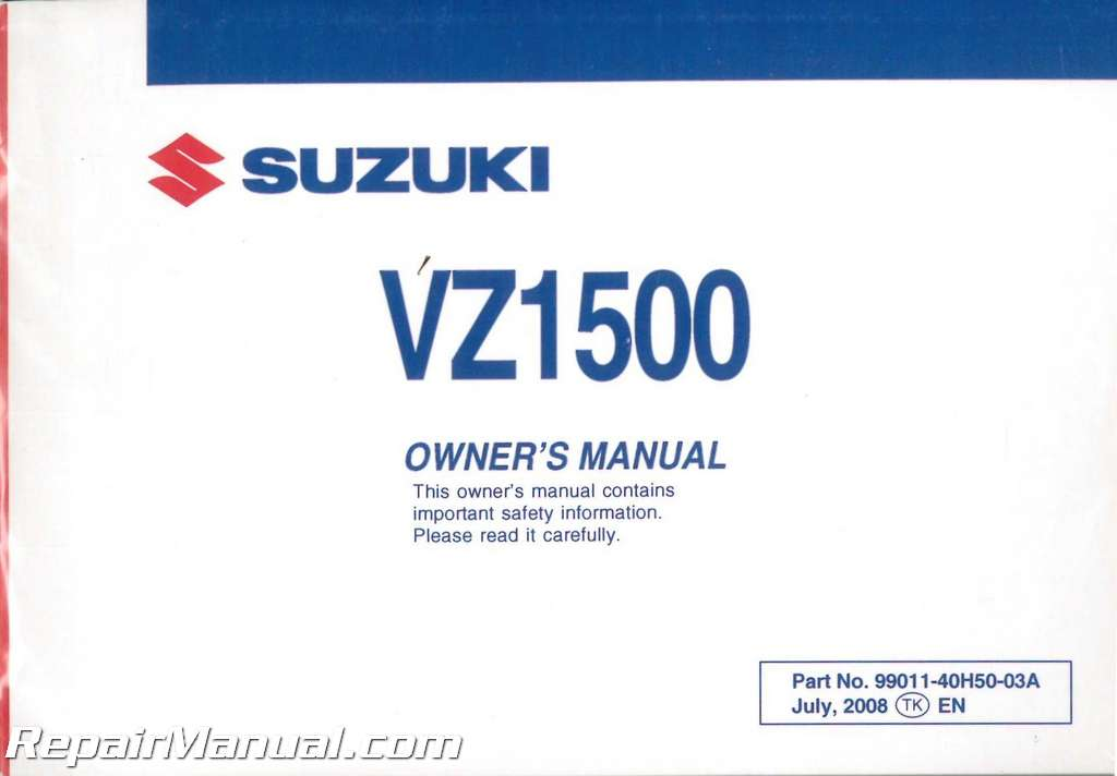 Suzuki Boulevard Mowners Manual