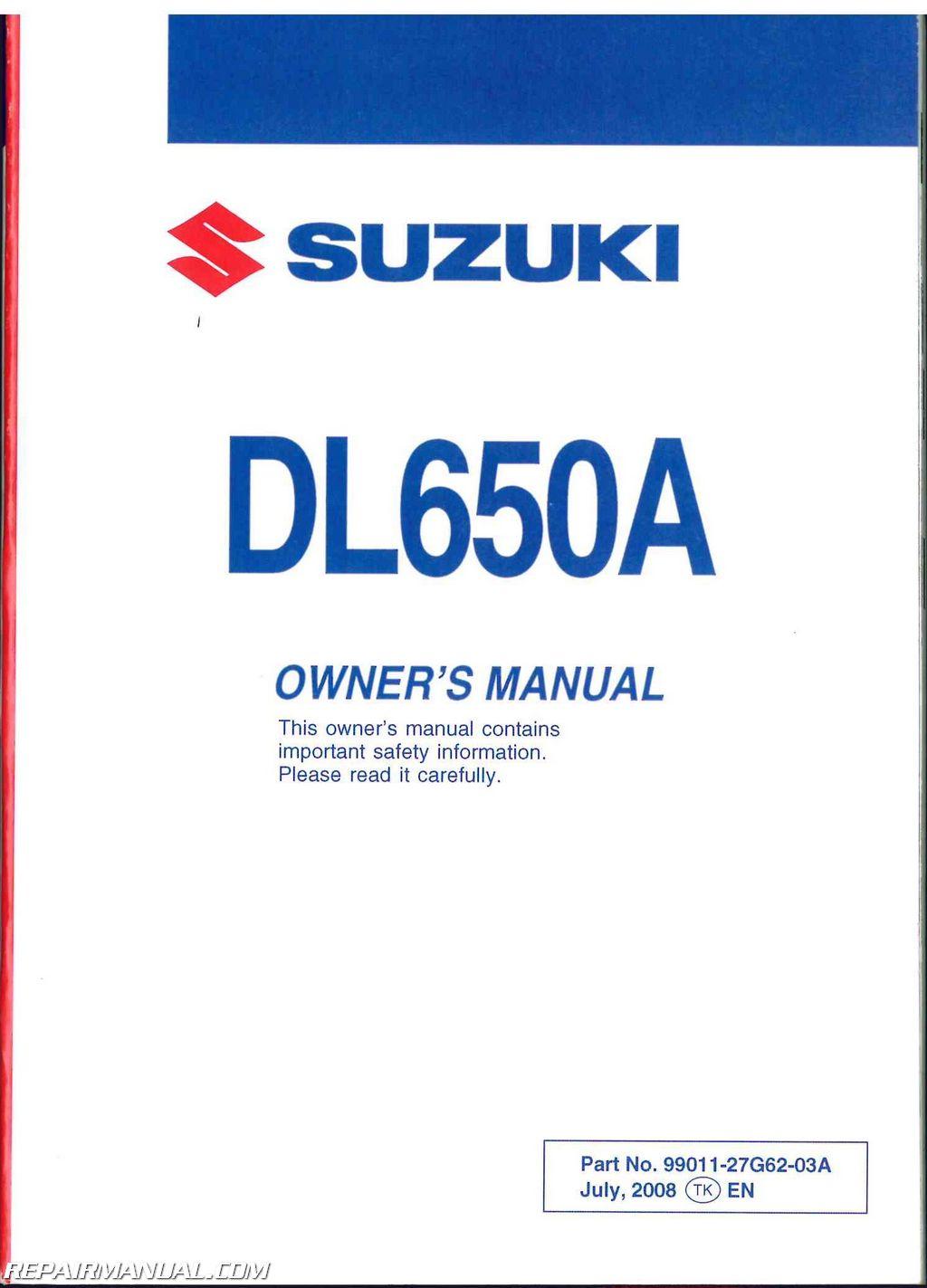 Suzuki V Strom Manual