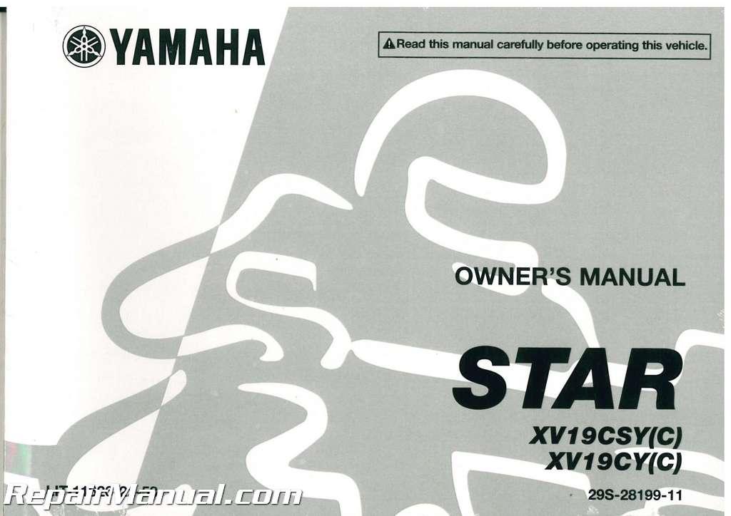 2009 yamaha xv19 raider motorcycle owners manual rh repairmanual com yamaha motorcycles owners manuals online free yamaha motorcycles owners manual 1979 vs 400