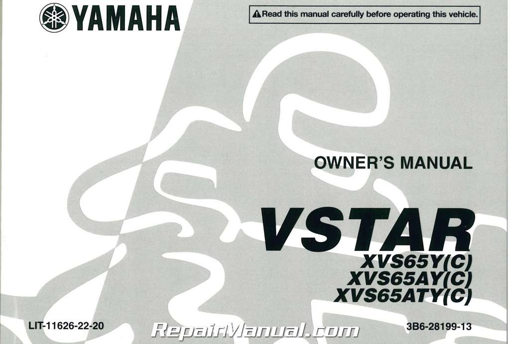 Yamaha V Star Classic Owners Manual