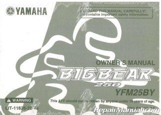 LIT-1... 2009-2011 Yamaha YFM550FI YFM700FI Grizzly Utility ATV Service Manual