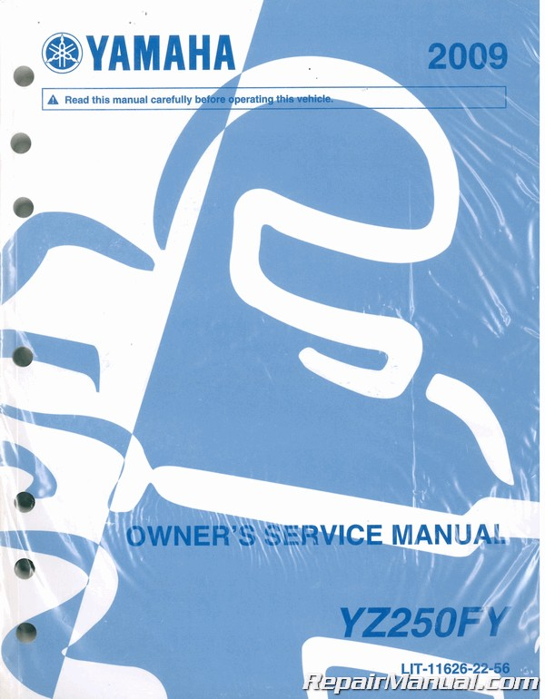 2009 Yamaha Yz250f Owners Motorcycle Service Manual