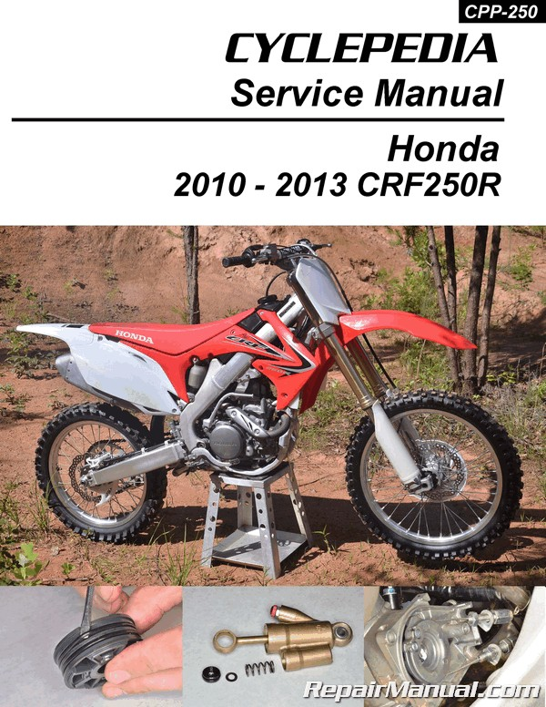 2010 2013 honda crf250r cyclepedia printed service manual. Black Bedroom Furniture Sets. Home Design Ideas