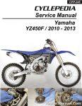 2010 – 2013 Yamaha YZ450F Cyclepedia Printed Motorcycle Service Manual_Page_1