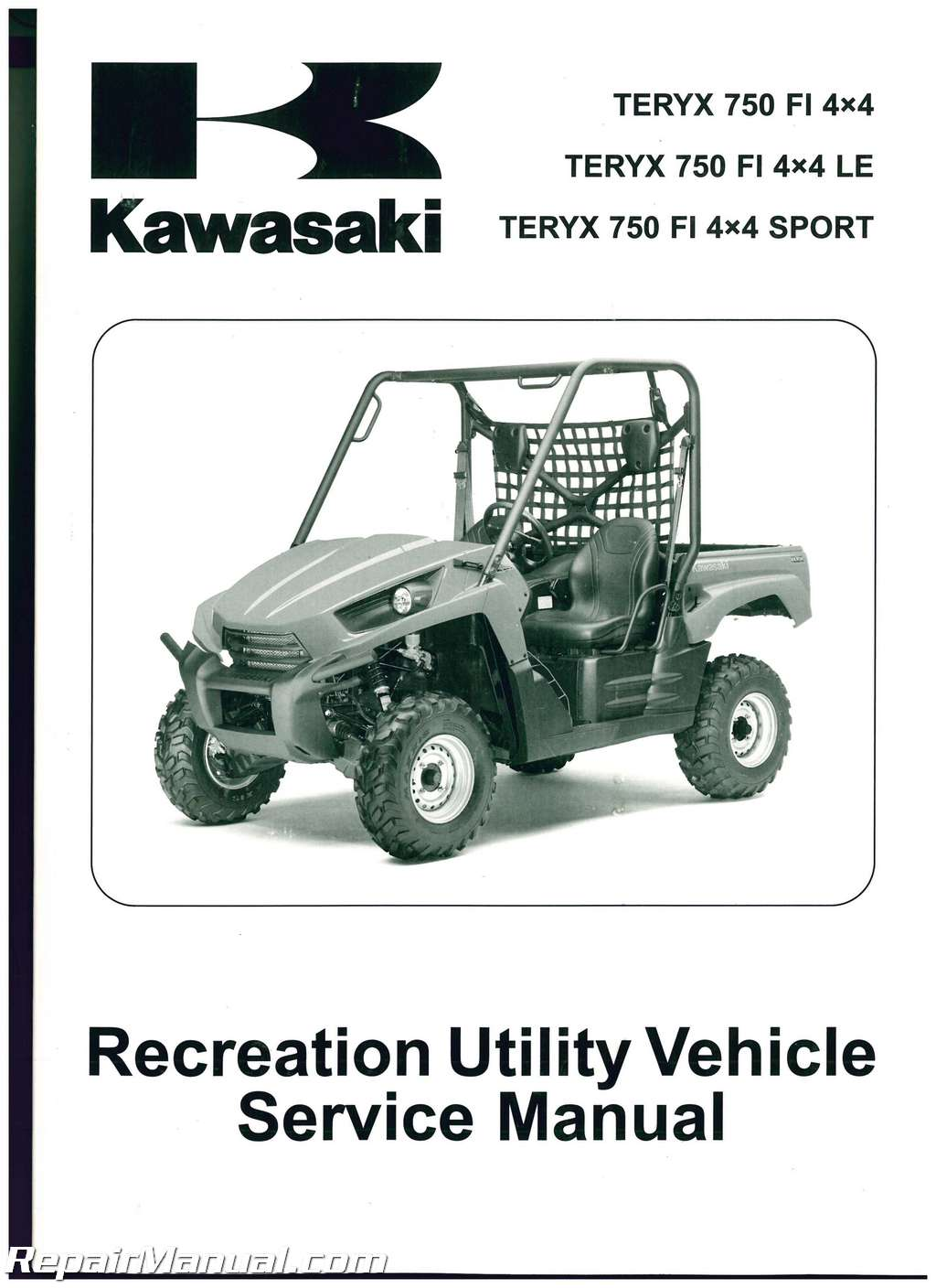 2010 2011 2012 2013 kawasaki krf750 teryx 750 4x4 le utv. Black Bedroom Furniture Sets. Home Design Ideas