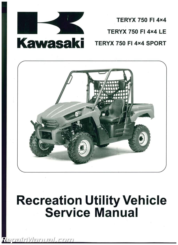 2010 2011 2012 kawasaki krf750 teryx 750 4x4 le utv