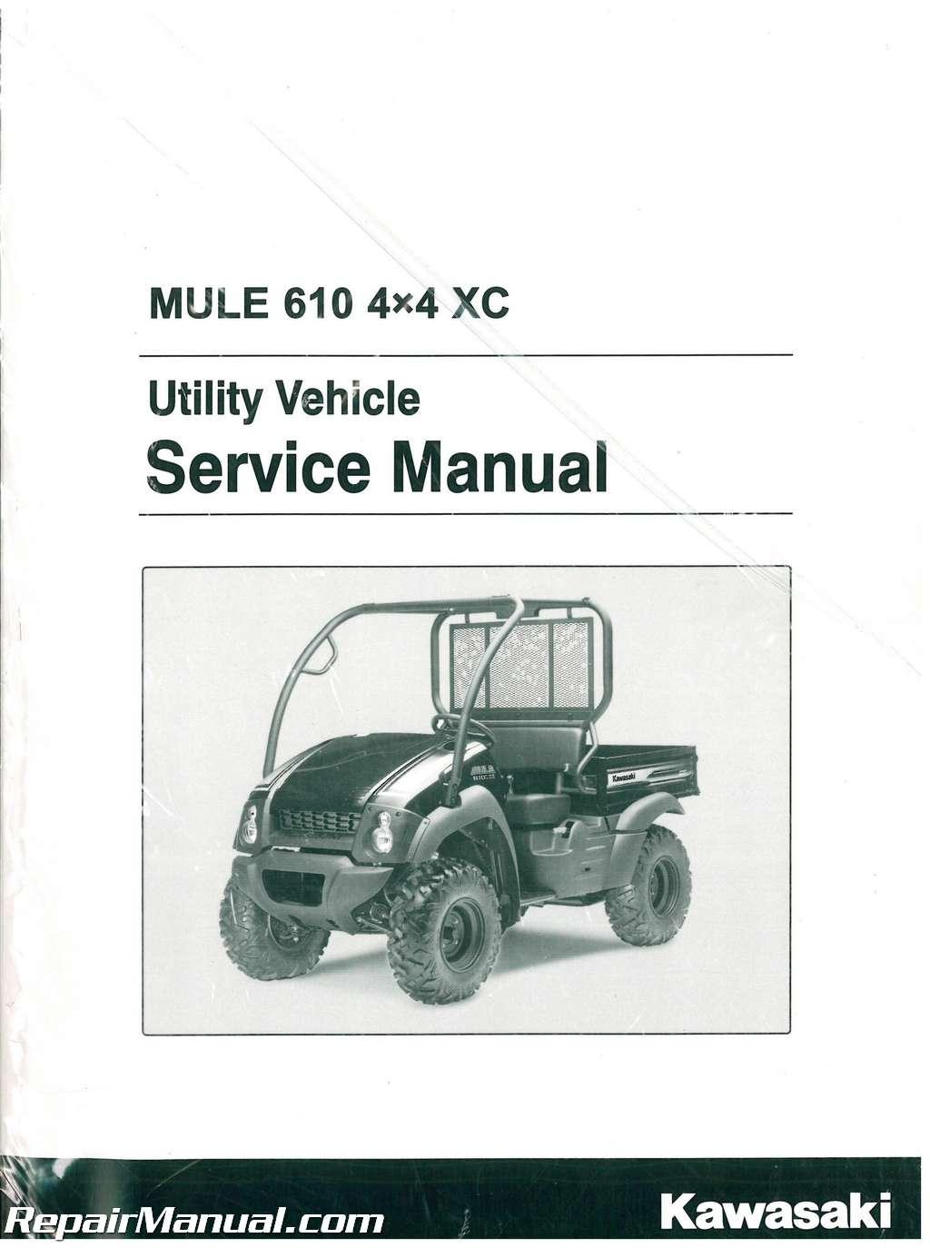 Service Manual For 2012 Kawasaki Mule 610 2015 Teryx Wiring Schematic 2010 2016 Kaf400d 4 Xc Rh Repairmanual Com Ignition Diagram Fuel Pump Problems